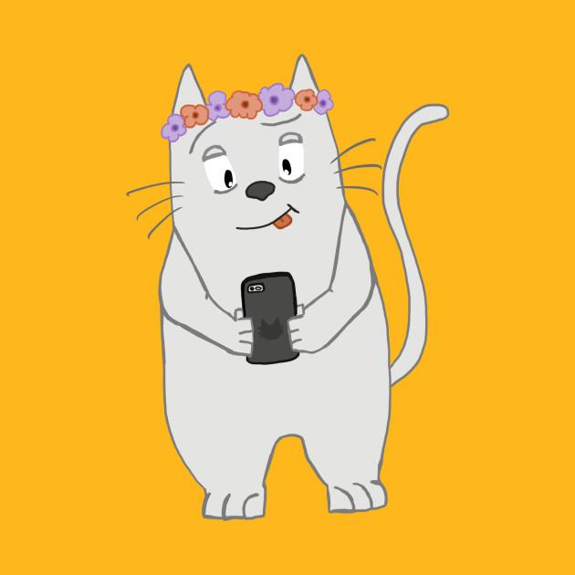 snapcat cat t shirt teepublic