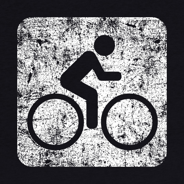 Cycling Sign - Distressed