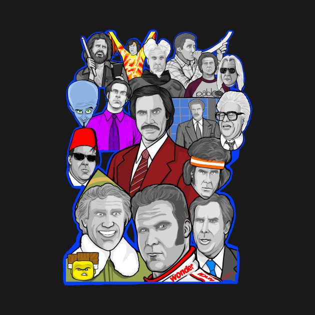 Will Ferrell character collage