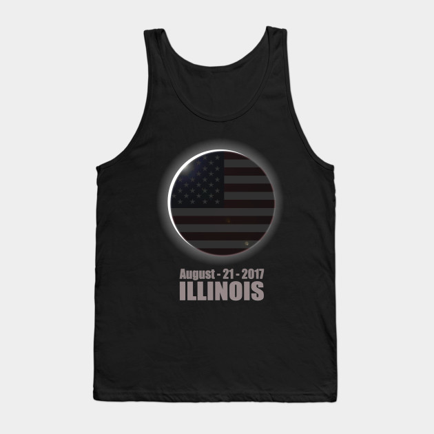 Total Solar Eclipse ILLINOIS Shirt August 21, 2017 | USA Flag