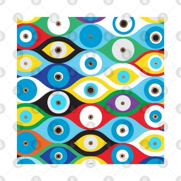 Colorful Evil Eye protection pattern