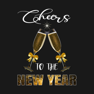 2b5d6a2cf Cheers To The New Year With Glasses Holiday Gift T-Shirt