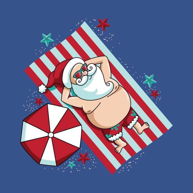 Funny Christmas Tank Tops.Funny Christmas In July Santa Summer Beaches
