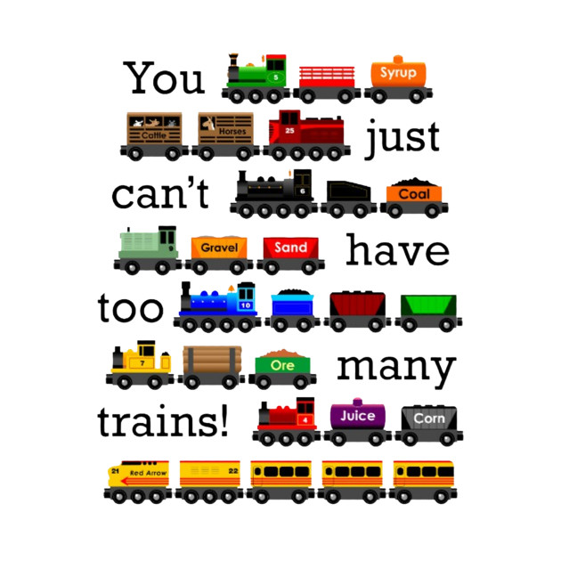 too manny trains