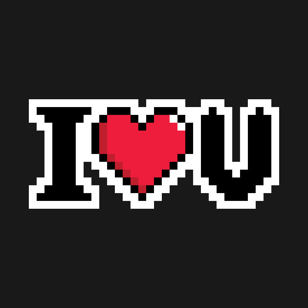 I Love You Video Game Heart T-Shirt