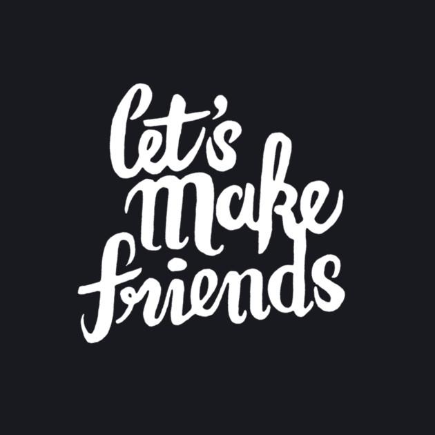 Let's Make Friends - White Logo - letsmakefriends