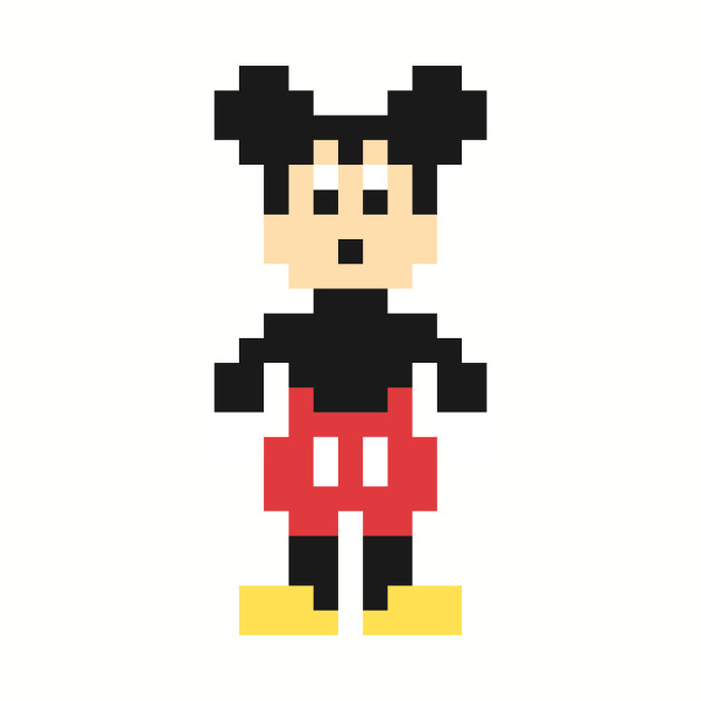 Mickey Mouse Pixel Character