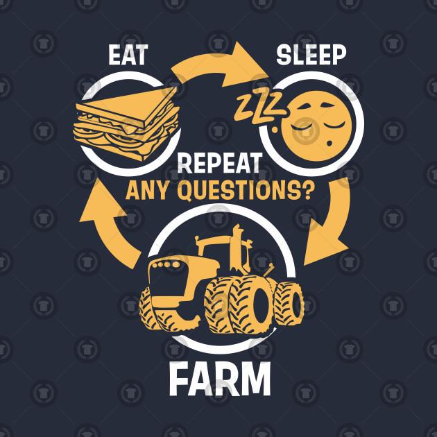 Men Women Eat Sleep Farm Repeat Funny Farming