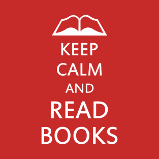Keep calm and read books t-shirts
