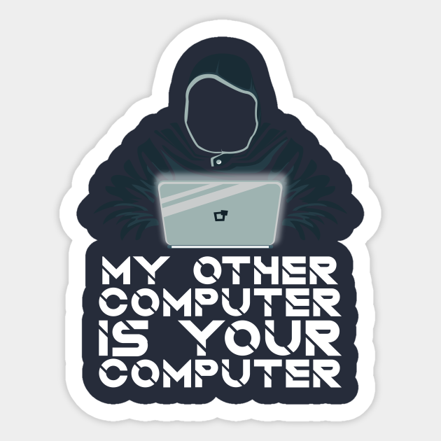 Ethical Hacking Guy Hoodie Laptop Scary Ethical Hacking Sticker Teepublic
