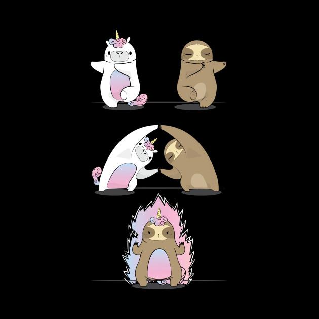 Sloth with Unicorn Fusion