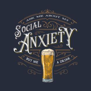 Social Anxiety t-shirts
