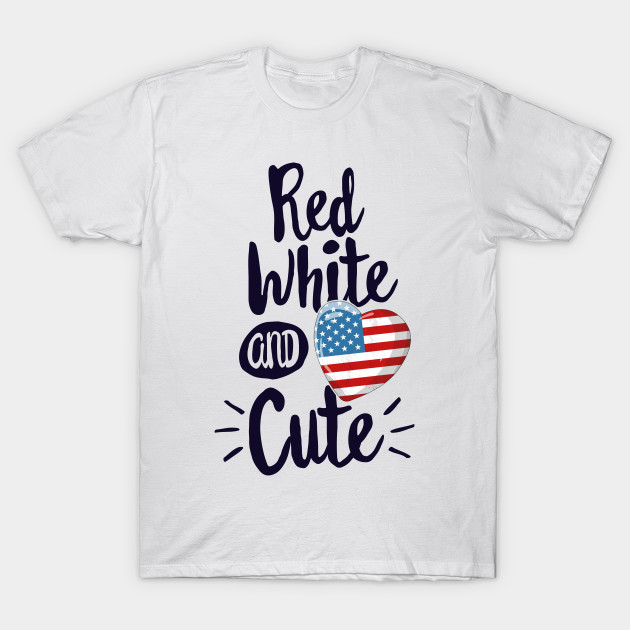 Fourth of July Red White and Blue Shirts American Flag Women/'s T-shirt