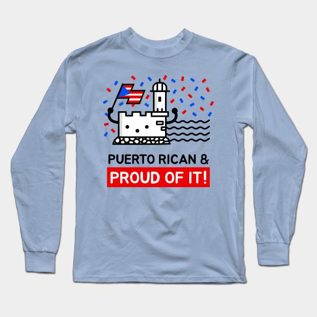 Puerto Rico Pride Mens Funny Adult Long-Sleeved T-Shirt