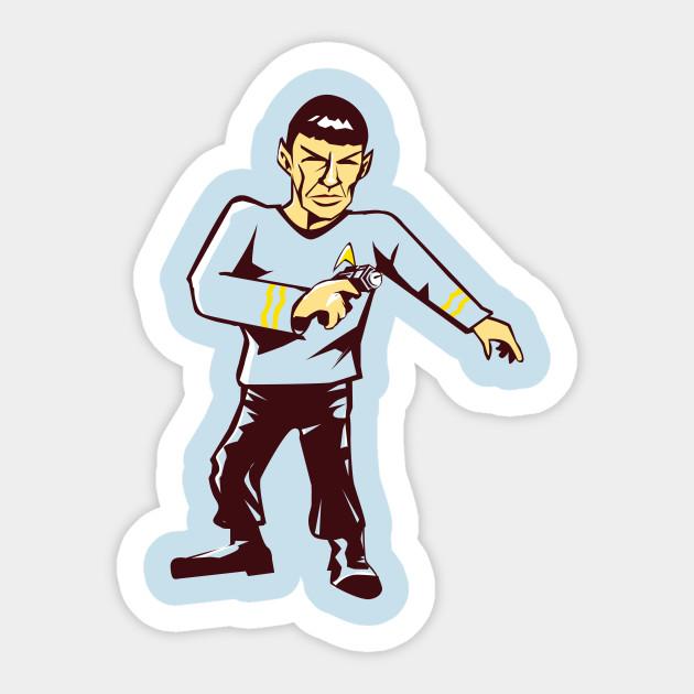 Mr spock sticker