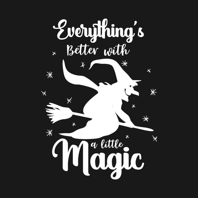 Funny Halloween Shirt for Women & Girls, Witch & Magic T-Shirt T-Shirt