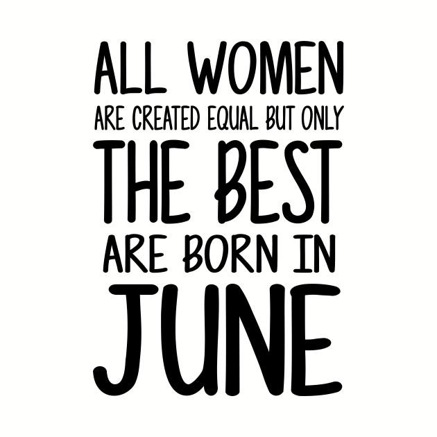 Women Born June Black
