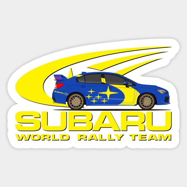 Subaru World Rally Team Subaru Sticker Teepublic