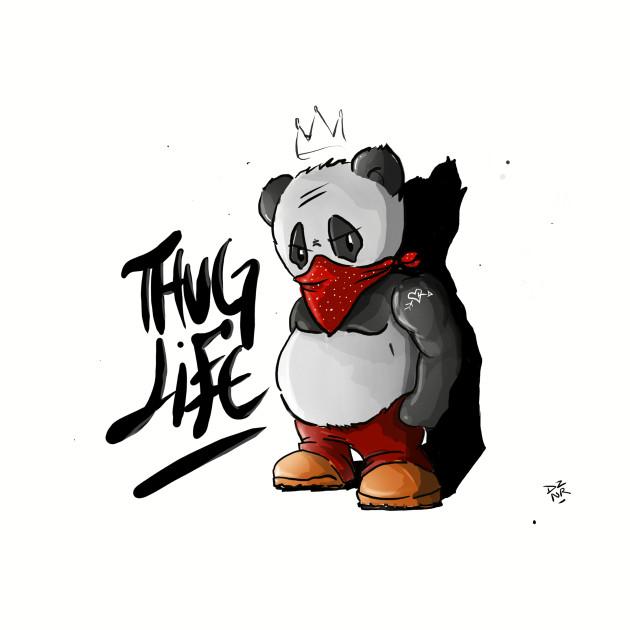 Thug Panda Panda Bear Tank Top Teepublic