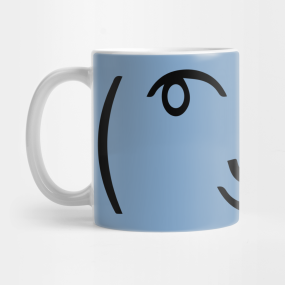 Smiley Face Text Mugs | TeePublic