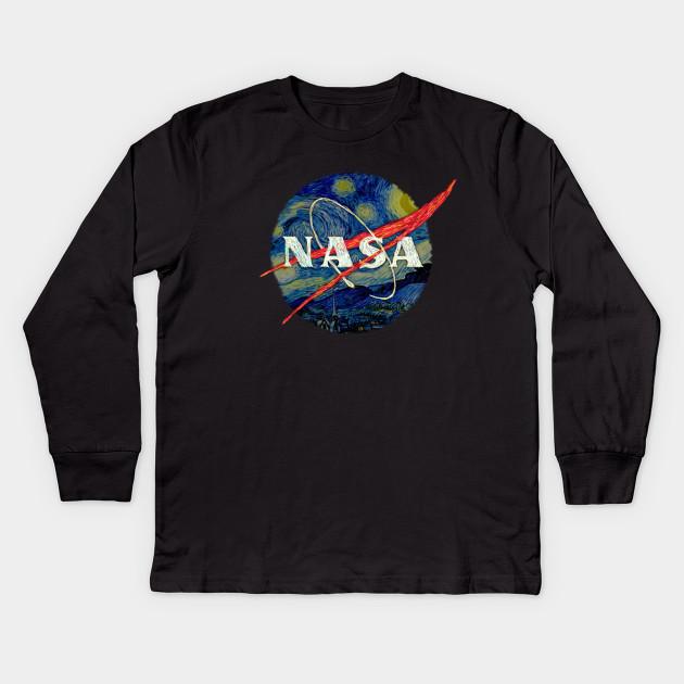 858bd5d10dd Nasa Starry Night - Nasa - Kids Long Sleeve T-Shirt
