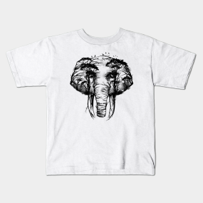 e4771a89233d Surreal Elephant Art Kids T-Shirts