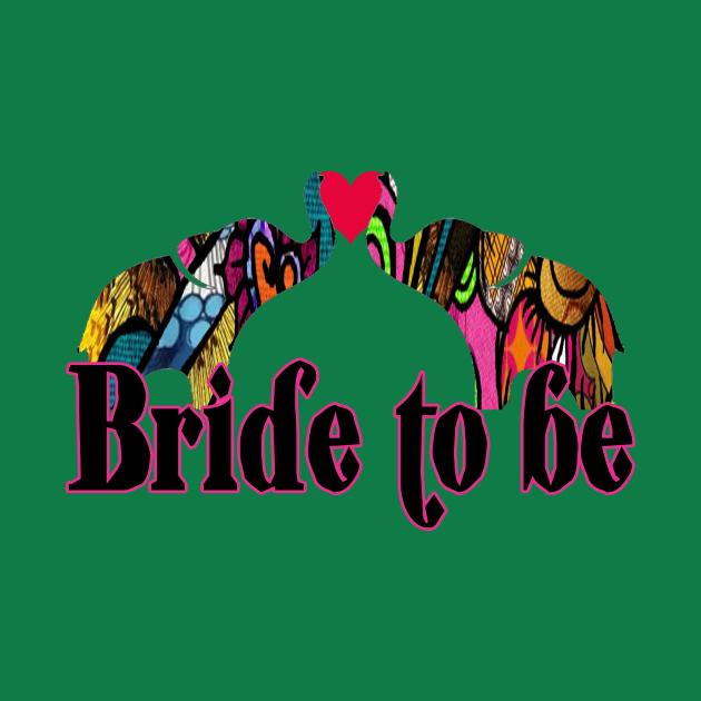 Bride to be Love elephant retro design