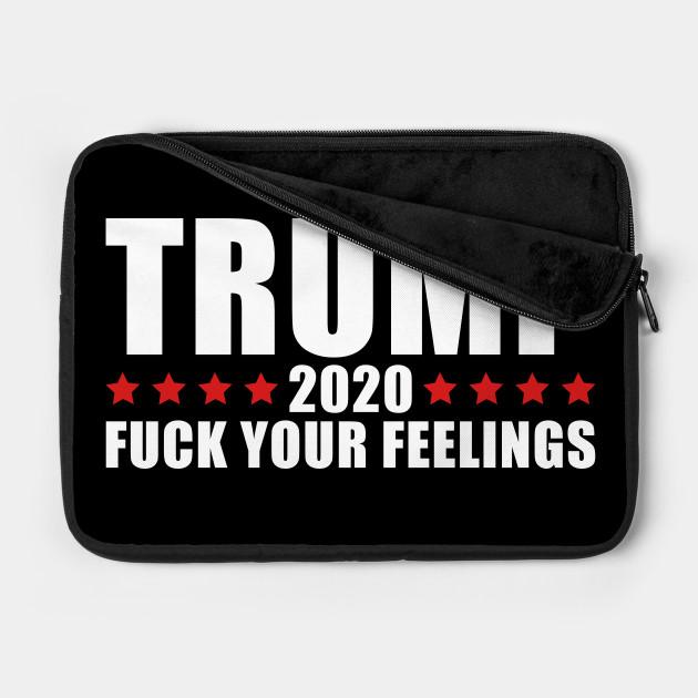 Gdsy Trump 2020 Fuck Your Feeling Water Repellent Laptop Bag Handbag Laptop Business Casual Or School