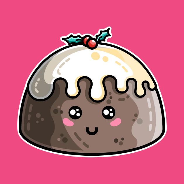 Kawaii Cute Christmas Pudding