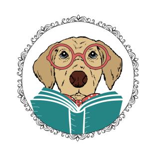Reading Dog t-shirts