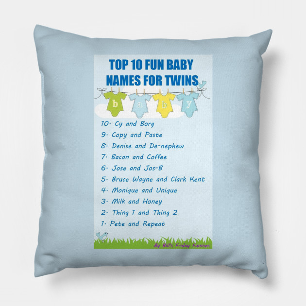 fun baby twin names muppet babies pillow teepublic