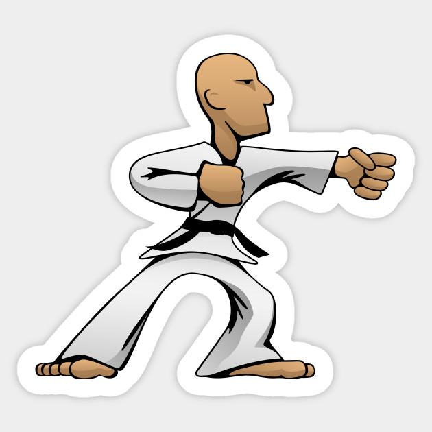 Cool Martial Arts Dude Karate Sticker Teepublic
