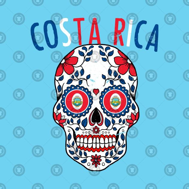 11f45b8d6 Calavera Costa Rica World Cup Team Flag Soccer Jersey Kosta Rika 2018 - Costa  Rica - Tank Top