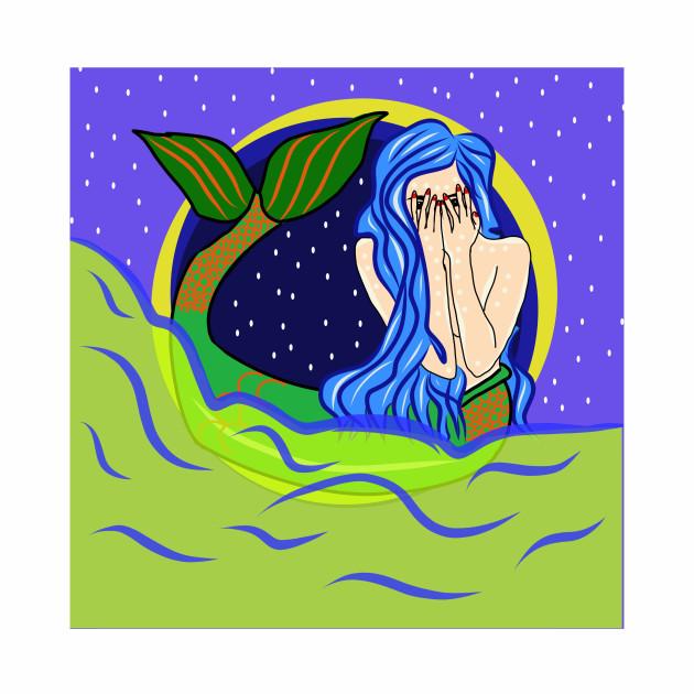 Mermaid shy