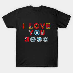 2c3c188db468 I Love You 3000 T-Shirt. by VanHand