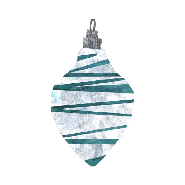 Bauble - Blue scribbly