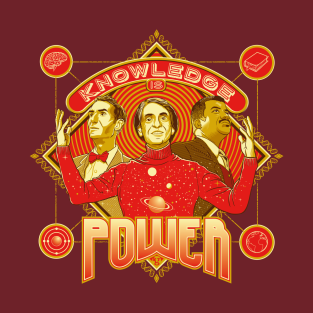 Knowledge is Power t-shirts