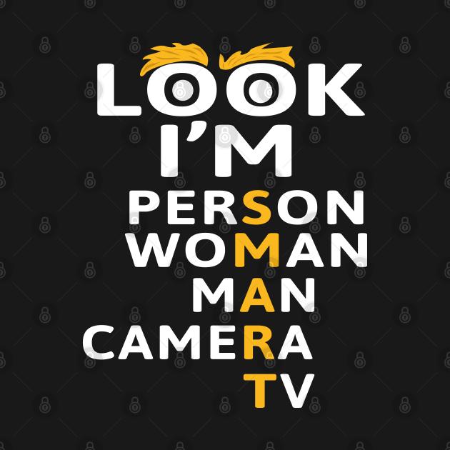 Person Woman Man Camera TV | Trump Cognitive Test | Funny