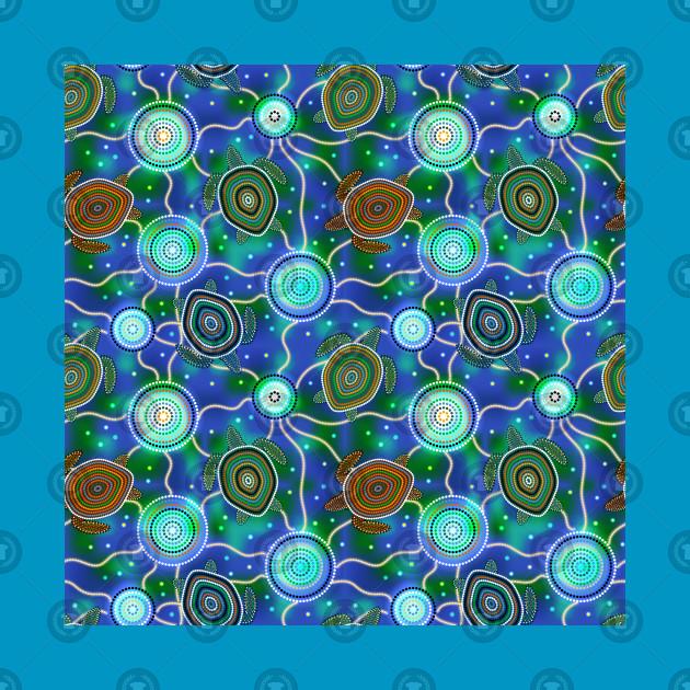 Sea Turtles And Jellyfish Australian Aboriginal Art Australian