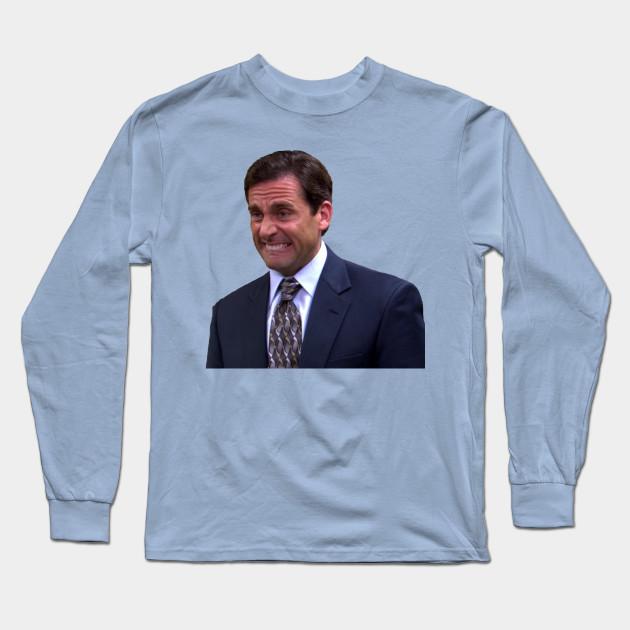 5384dcfa Crying Michael Scott - Michael Scott - Long Sleeve T-Shirt   TeePublic