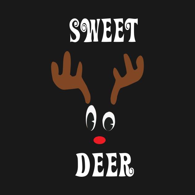 Sweet Reindeer Deer Red nosed Christmas Deer Hunting Hobbies Interests