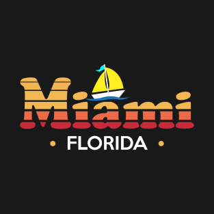 Colorful 80s style Miami Design t-shirts