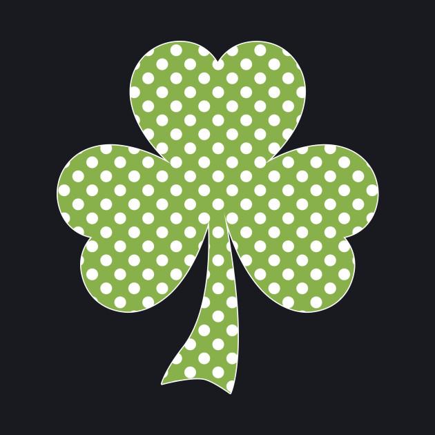 Greenery Shamrock Clover Polka dots St. Patrick's Day
