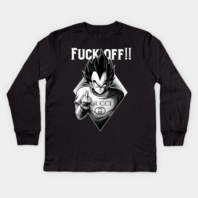 f806a28b67cd fuck off - Vegeta - Kids Long Sleeve T-Shirt | TeePublic