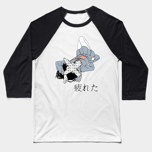 Tired Sad Japanese Anime Aesthetic Aesthetic Baseball T Shirt Teepublic