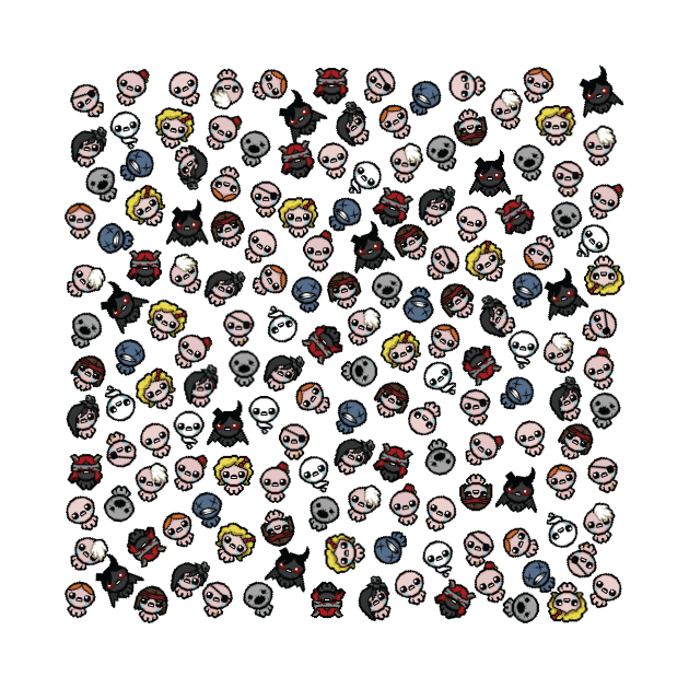 The Binding of Isaac characters pattern