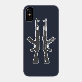 ak 47 rifle silhouette phone cases teepublic