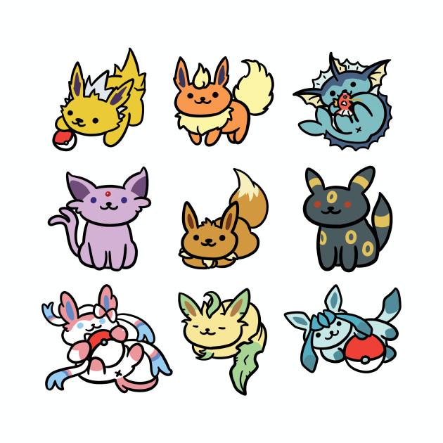 Eevee Atsume - Pokemon Eeveelutions / Neko Atsume