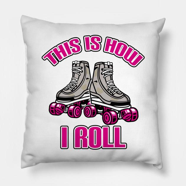 Roller Kissen.Skate Roller Roll Shoe Wheel Derby Gift