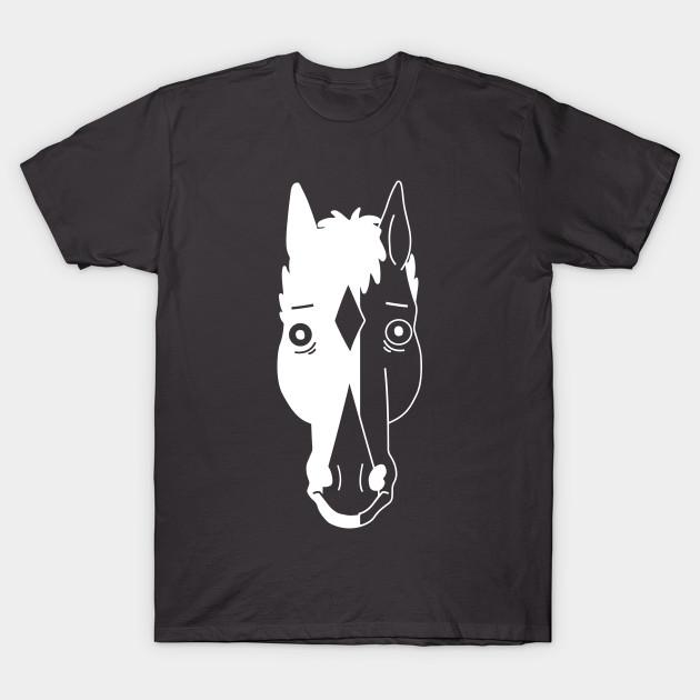 2ffc81f5 Bojack Horseman Face (white) - Bojack - T-Shirt | TeePublic